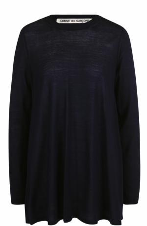 Удлиненный пуловер свободного кроя Comme des Garcons. Цвет: синий