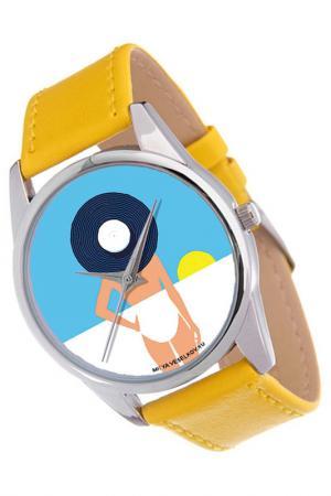 Часы Пляж MITYA VESELKOV. Цвет: синий