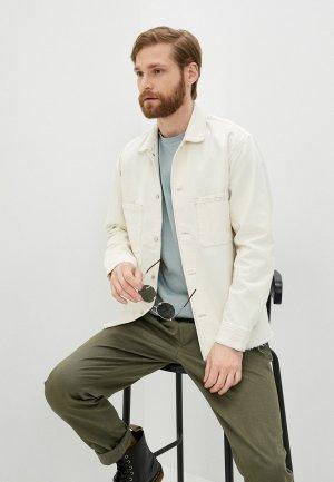 Куртка джинсовая The Kooples. Цвет: белый