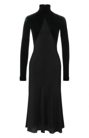 Платье-миди с воротником-стойкой Haider Ackermann. Цвет: темно-зеленый