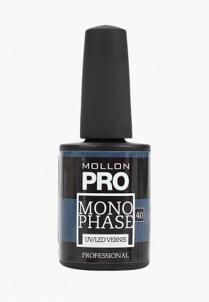 Гель-лак для ногтей Mollon Pro. Цвет: синий