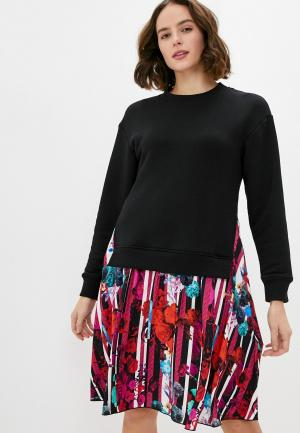 Платье Bikkembergs. Цвет: разноцветный