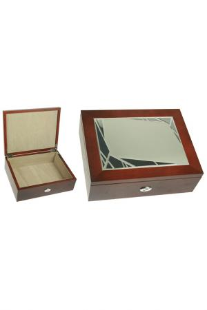 Шкатулка Русские подарки. Цвет: коричневый