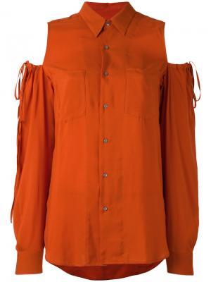 Блузка с вырезными деталями на плечах A.F.Vandevorst. Цвет: жёлтый и оранжевый