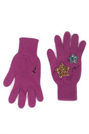 Перчатки LAK MISS. Цвет: фуксия