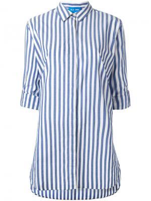 Рубашка в полоску Mih Jeans. Цвет: синий