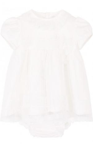 Хлопковый комплект из платья и трусов Aletta. Цвет: кремовый