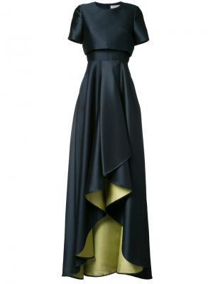 Вечернее платье с каскадными драпировками Jason Wu. Цвет: синий