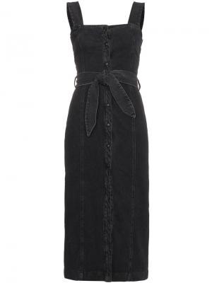 Джинсовое платье Sally Nanushka. Цвет: чёрный