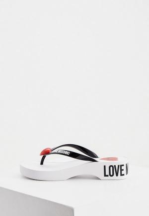 Сланцы Love Moschino. Цвет: черный