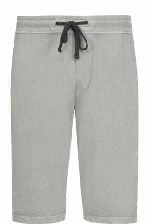 Хлопковые шорты с заниженной линией шага James Perse. Цвет: хаки