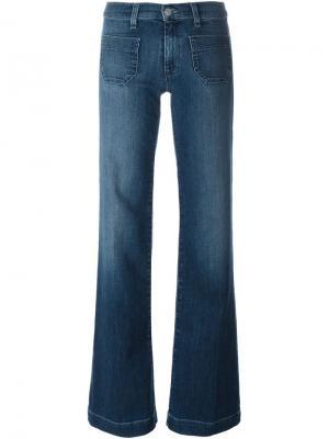 Широкие джинсы Libby Hudson. Цвет: синий