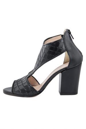 High heels sandals GIANNI GREGORI. Цвет: black