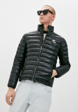 Куртка утепленная Karl Lagerfeld. Цвет: черный