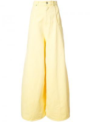 Широкие джинсы Martine Rose. Цвет: жёлтый и оранжевый