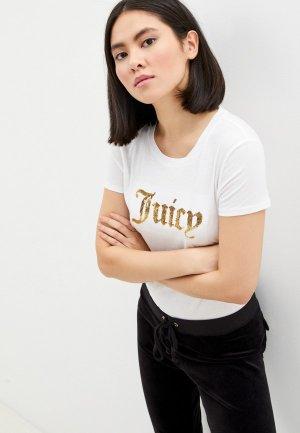 Футболка Juicy Couture. Цвет: белый
