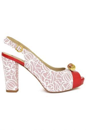 Туфли открытые GIADA GABRIELLI. Цвет: красный