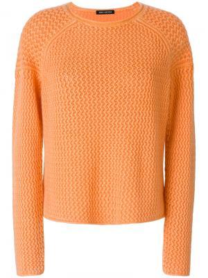 Свитер с круглым вырезом Iris Von Arnim. Цвет: жёлтый и оранжевый