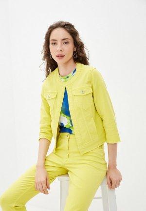 Куртка джинсовая Betty Barclay. Цвет: желтый