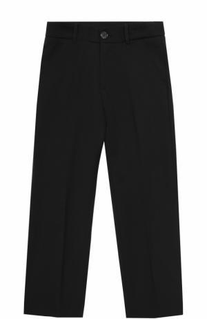 Шерстяные брюки прямого кроя Aletta. Цвет: черный