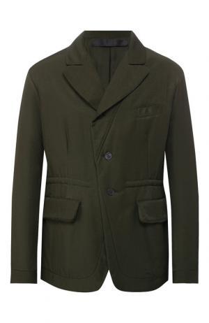 Утепленная куртка Haider Ackermann. Цвет: хаки