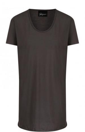 Хлопковая футболка свободного кроя с круглым вырезом Roque. Цвет: серый
