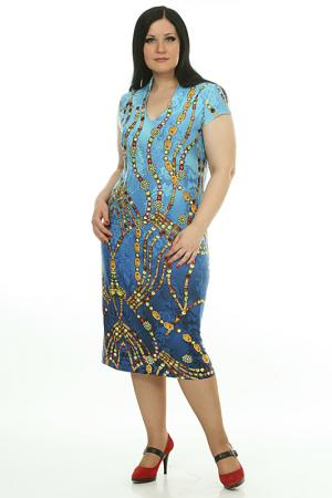 Платье AMAZONE. Цвет: голубой
