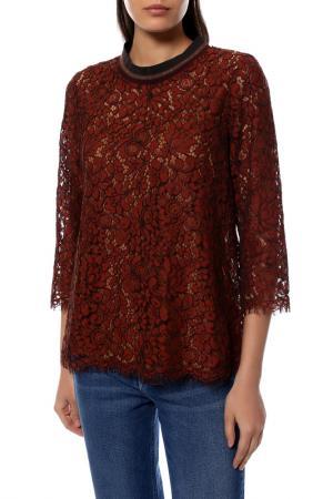 Блуза KAFFE. Цвет: коричневый