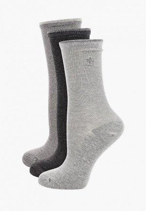 Носки 3 пары Lauren Ralph. Цвет: серый