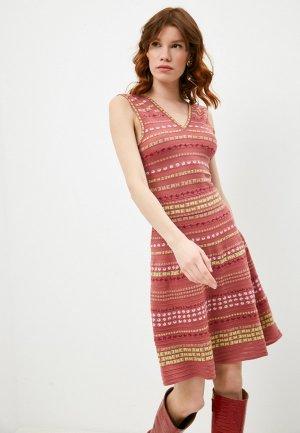Платье Missoni. Цвет: розовый
