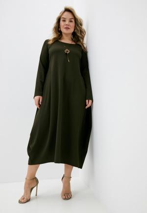 Платье Elena Miro. Цвет: хаки