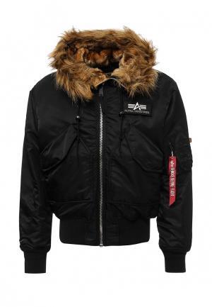 Куртка утепленная Alpha Industries. Цвет: черный