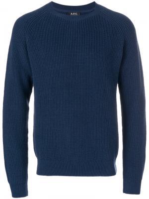 Ribbed jumper A.P.C.. Цвет: синий