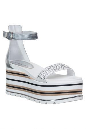 Platform sandals LORETTA PETTINARI. Цвет: silver