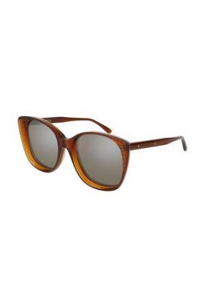 Очки солнцезащитные BOTTEGA VENETA. Цвет: 002