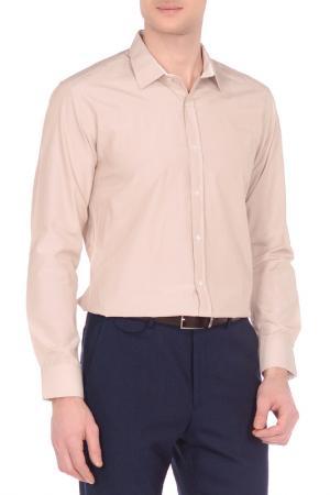 Рубашка KarFlorens. Цвет: светло-бежевый