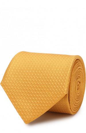 Шелковый галстук Canali. Цвет: желтый