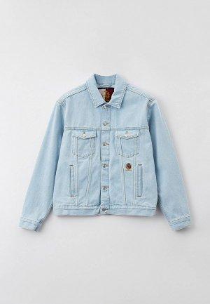 Куртка джинсовая Tommy Hilfiger. Цвет: голубой