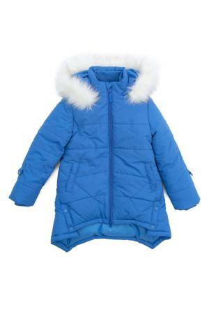 Пальто PlayToday. Цвет: голубой