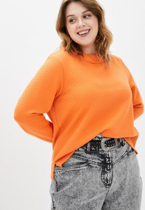 Свитшот Ulla Popken. Цвет: оранжевый