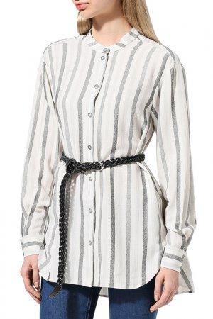 Блуза BELUCCI. Цвет: серебряный