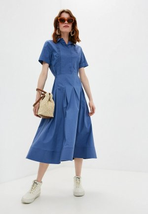 Платье Harmont & Blaine. Цвет: синий