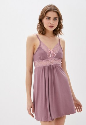 Сорочка ночная Rene Santi. Цвет: фиолетовый