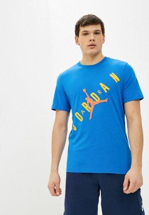 Футболка Jordan. Цвет: синий