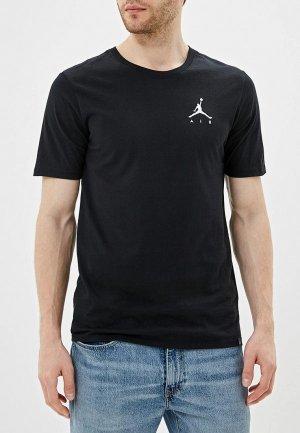 Футболка Jordan. Цвет: черный