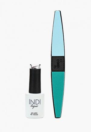 Набор для ухода за ногтями Runail Professional. Цвет: синий