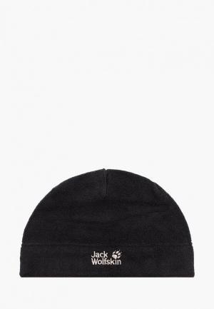 Шапка Jack Wolfskin. Цвет: черный