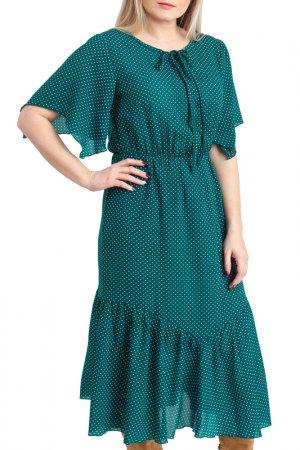 Платье LACY. Цвет: зеленый