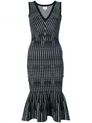 Платье миди с баской Milly. Цвет: чёрный