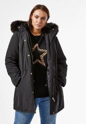 Куртка утепленная Dorothy Perkins Curve. Цвет: коричневый